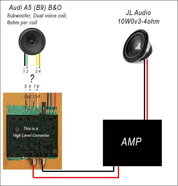 bo subwoofer wiring help please  audiworld forums