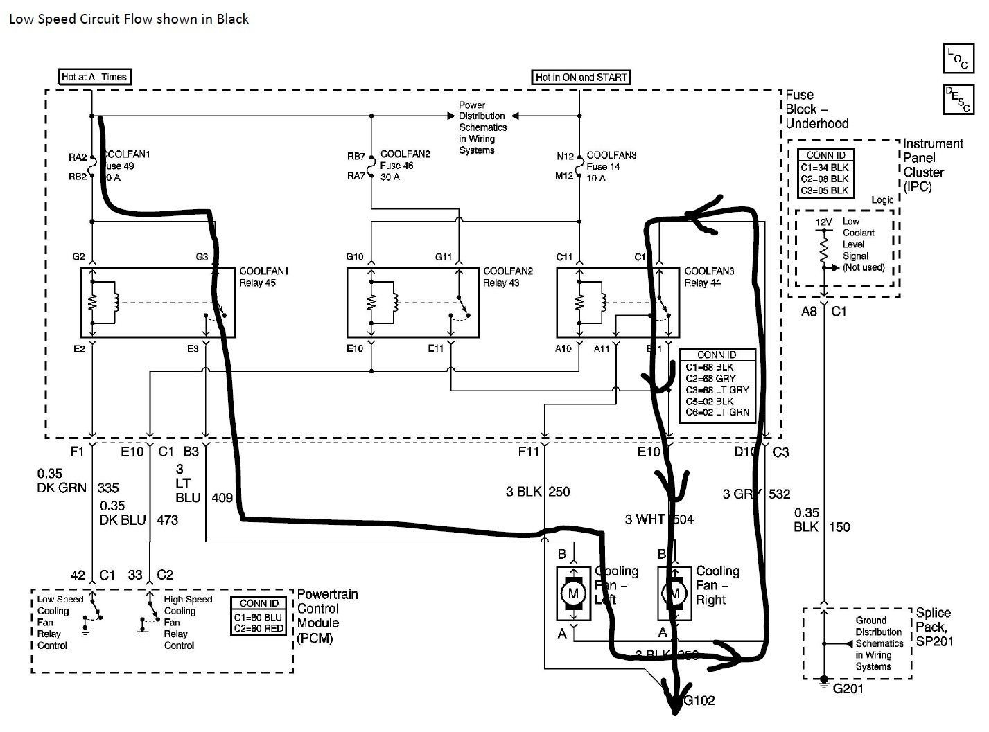 C5 Corvette Electric Fan Relay Wiring Diagram