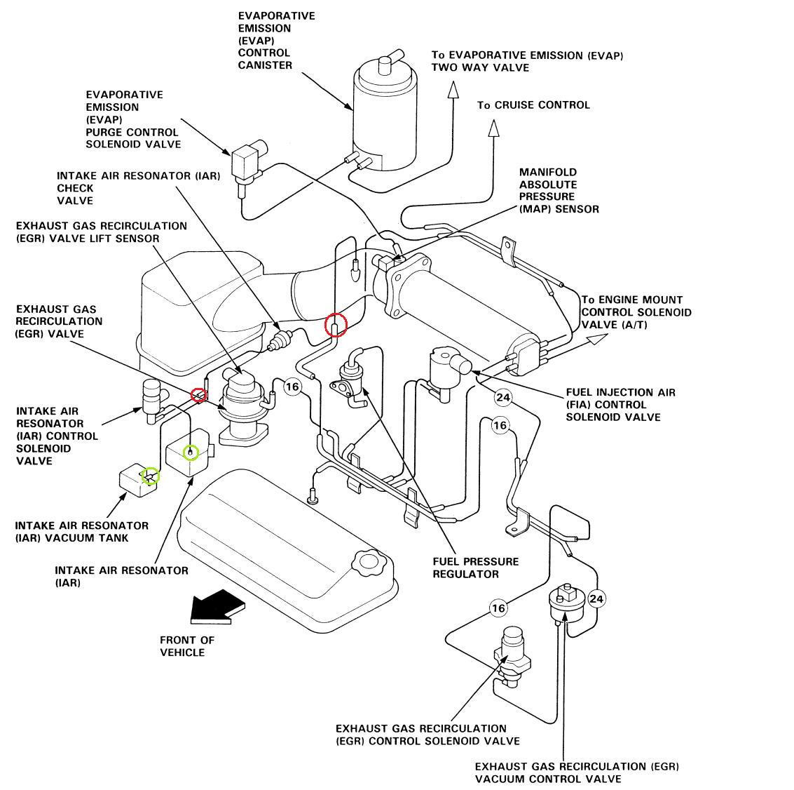 honda accord ex rear suspension diagram