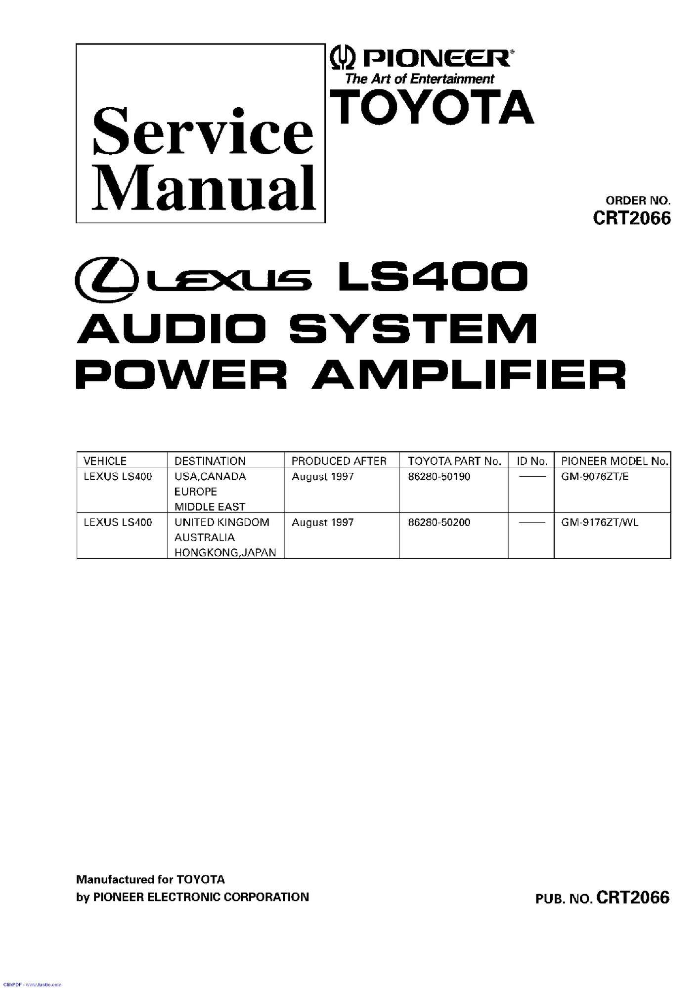 91 lexu ls400 part
