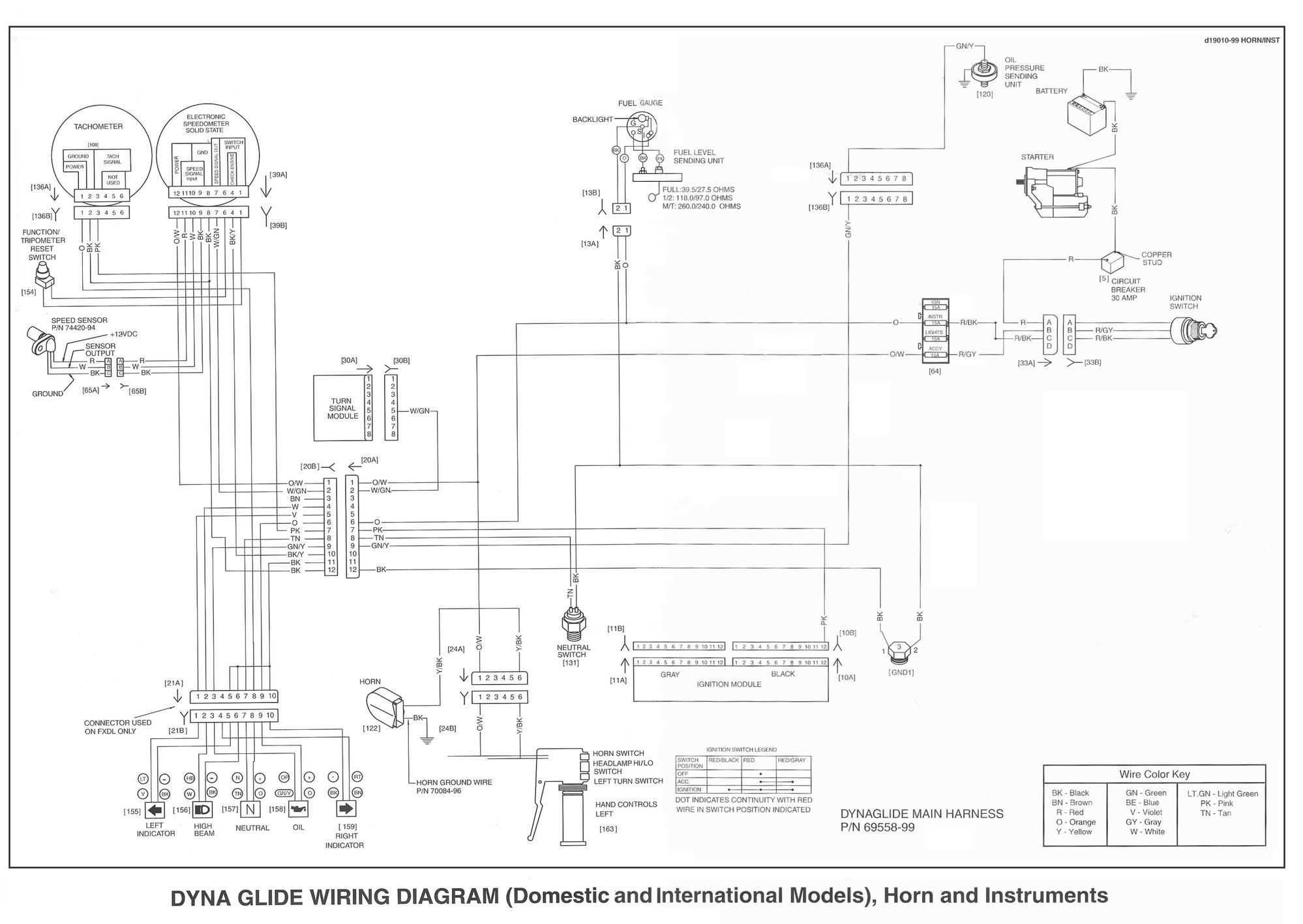 Harley Davidson Wide Glide Wiring Diagram : Harley dyna super glide wiring diagram