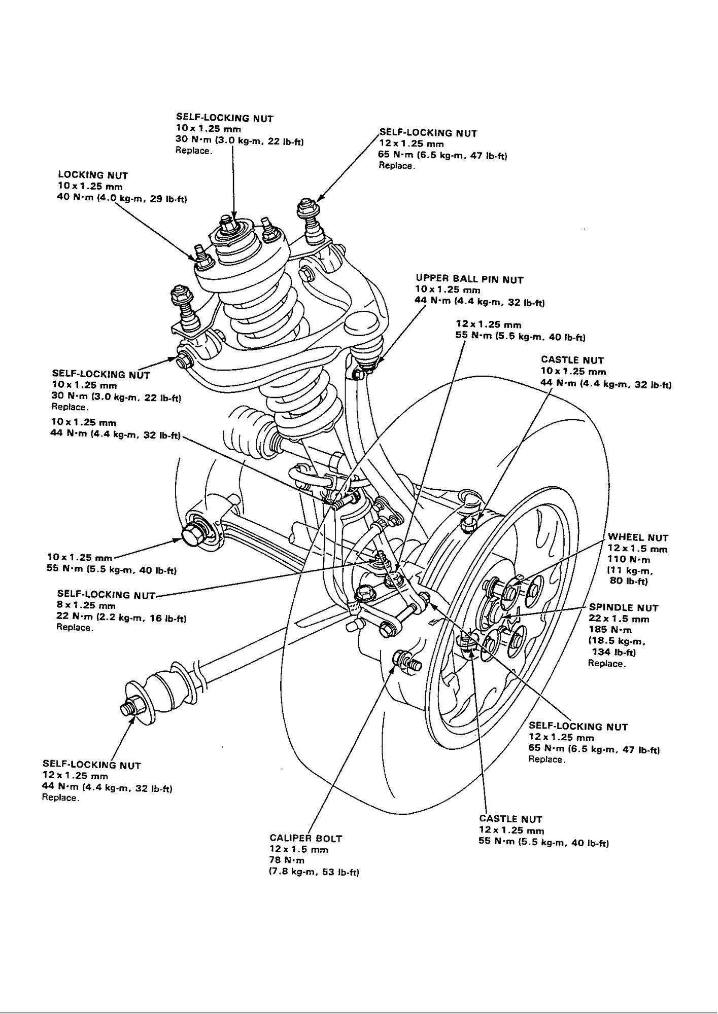 Torque Specs For Radius Rods And Crossmember