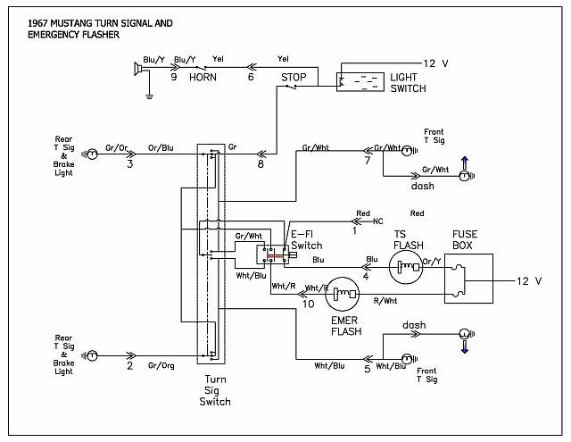 67 mustang turn signal switch power question  mustangforums