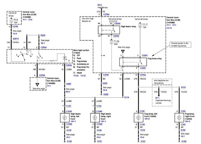 wiring diagram for fog lights  ford truck enthusiasts forums