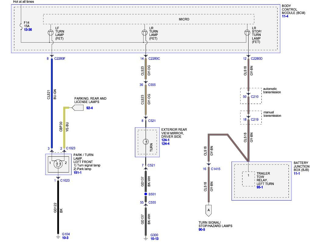 99 Ford F 450 Turn Signal Wiring Diagram