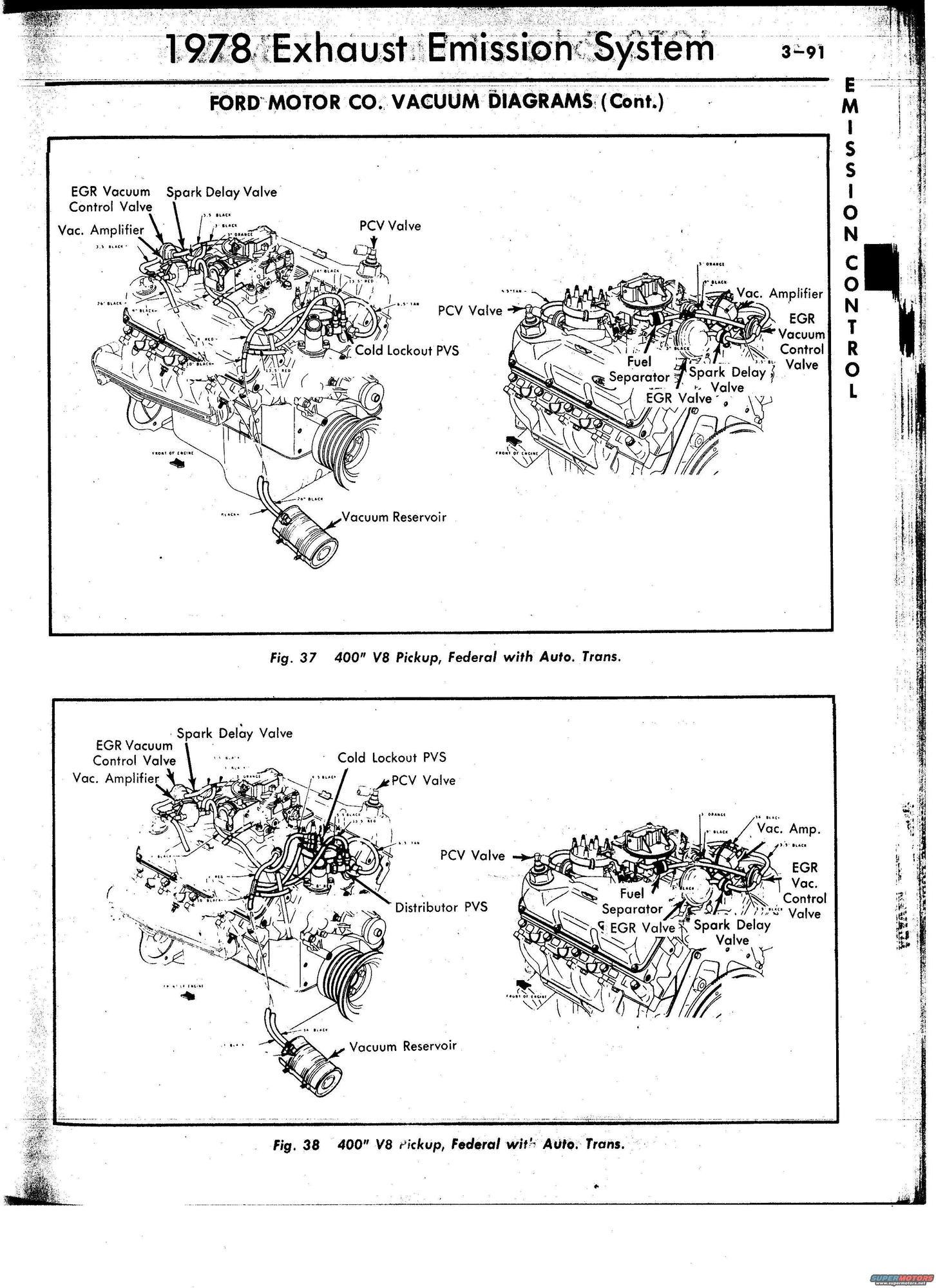 1978 Ford Bronco Vacuum Diagrams