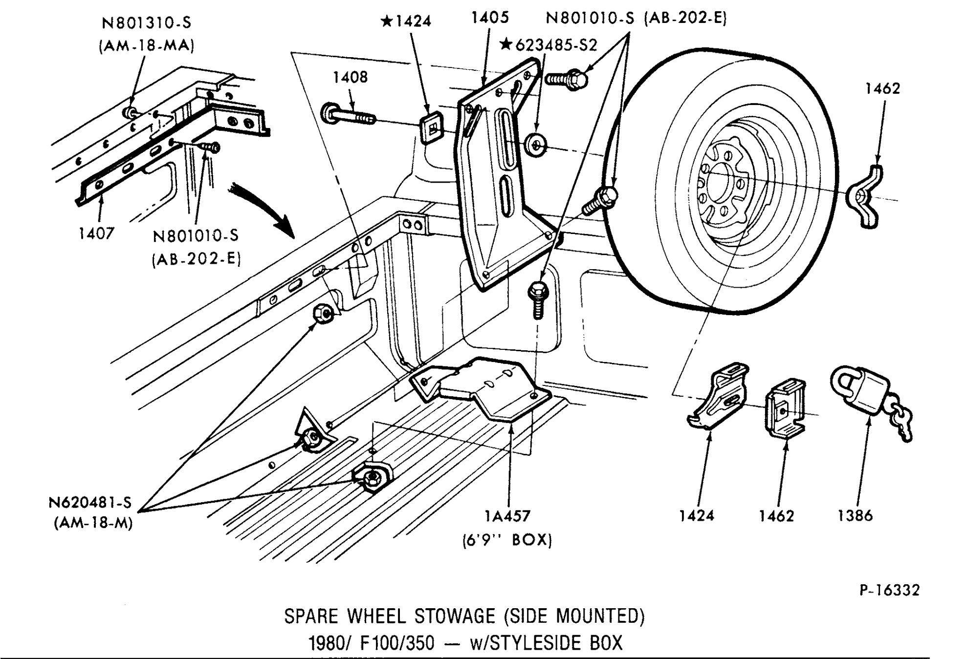 84 F 150 Spare Tire Mount