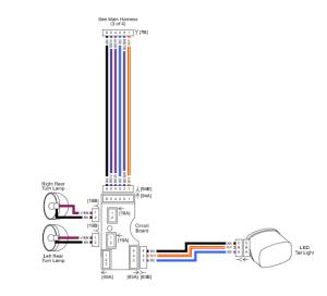 Harley Davidson CVO rear tail light 4 pin wiring diagram