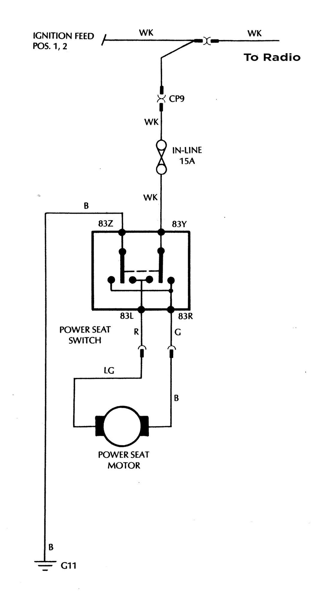 Power Seat Diagram