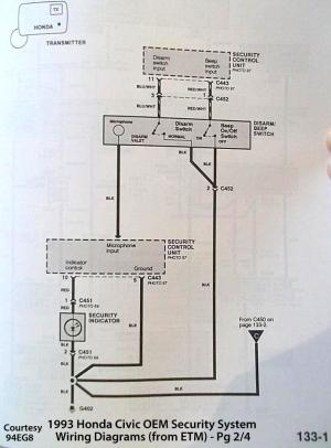 92 Accord EX security system wiring diagram needed ASAP