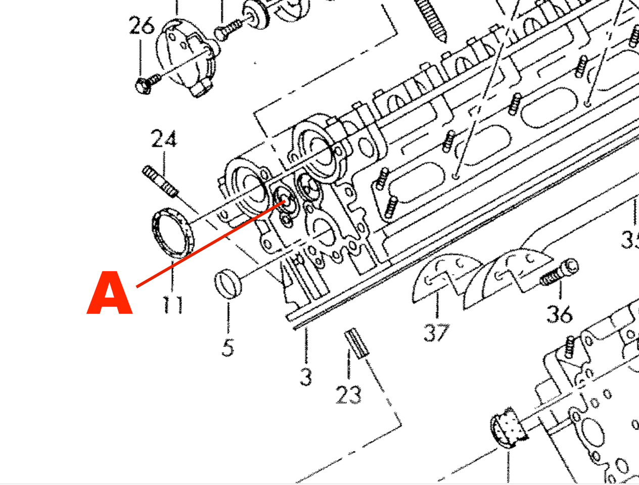 The guy from the dealer sent me an explosion diagram of the head parts i had to mark the part myself its on the reverse side of the engine drivers side