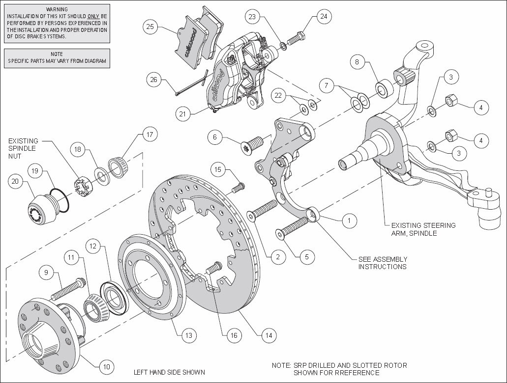 Wilwood Forged Dynalite Big Brake Front Kit Question