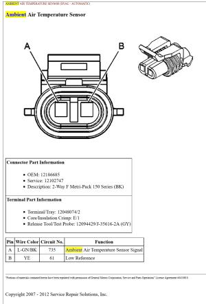 pin out or wiring diagram for C6 Ambient Air sensor  CorvetteForum  Chevrolet Corvette Forum