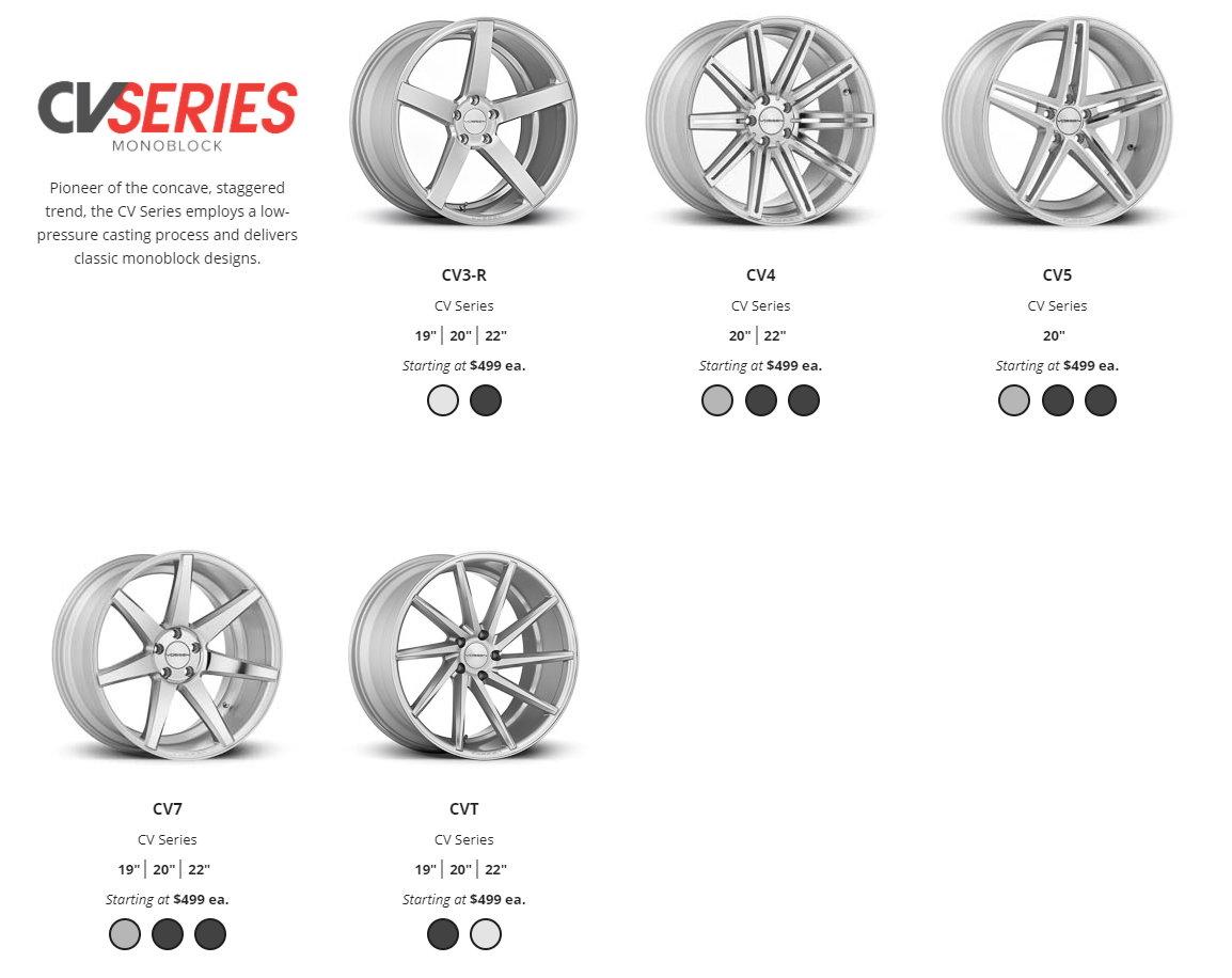 Vossen Wheels Cv Vfs Lc Cg Vps Hc Vws Ml R Member Pricing