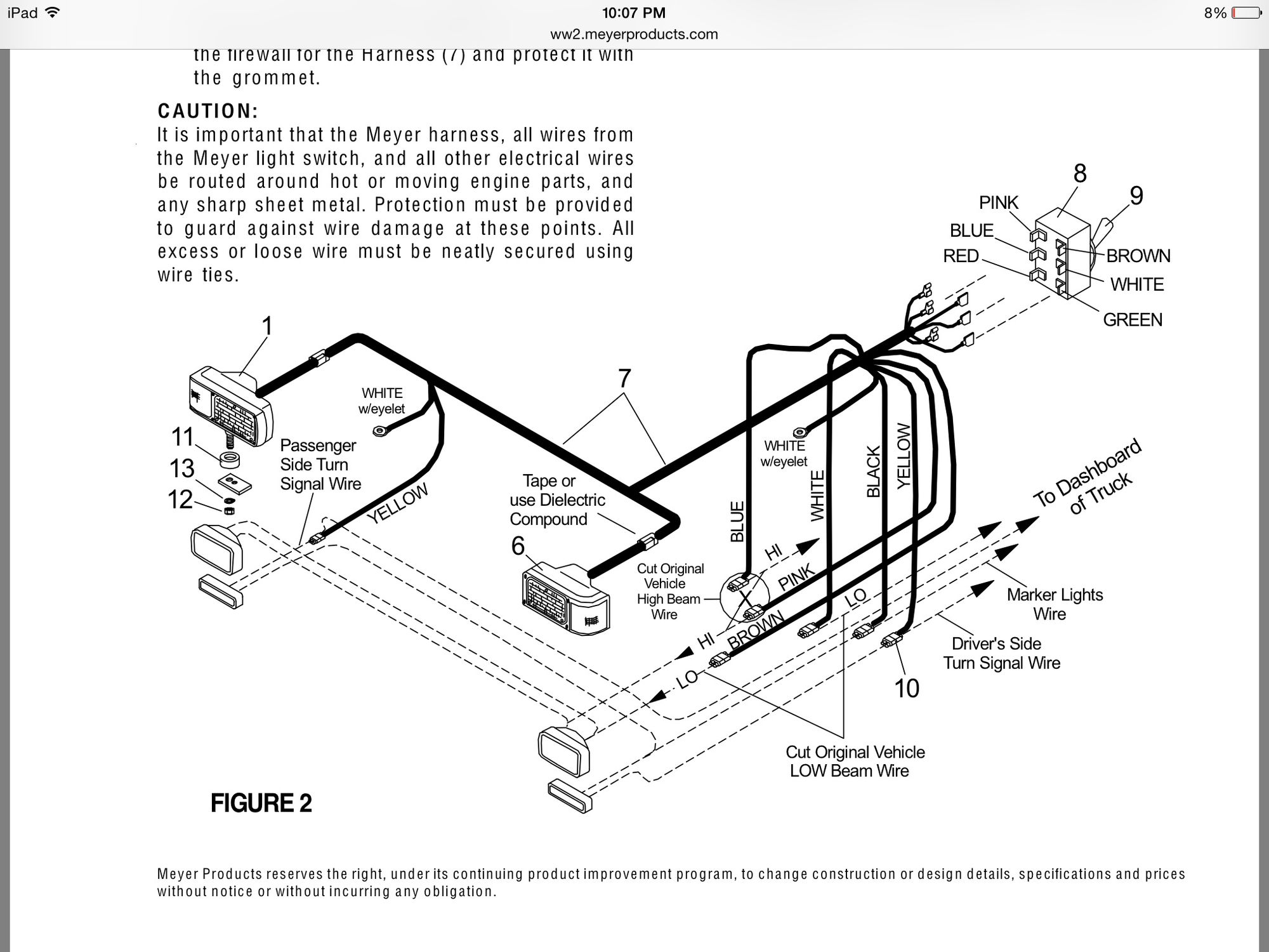 snow dog ex80 plow wiring harness   33 wiring diagram