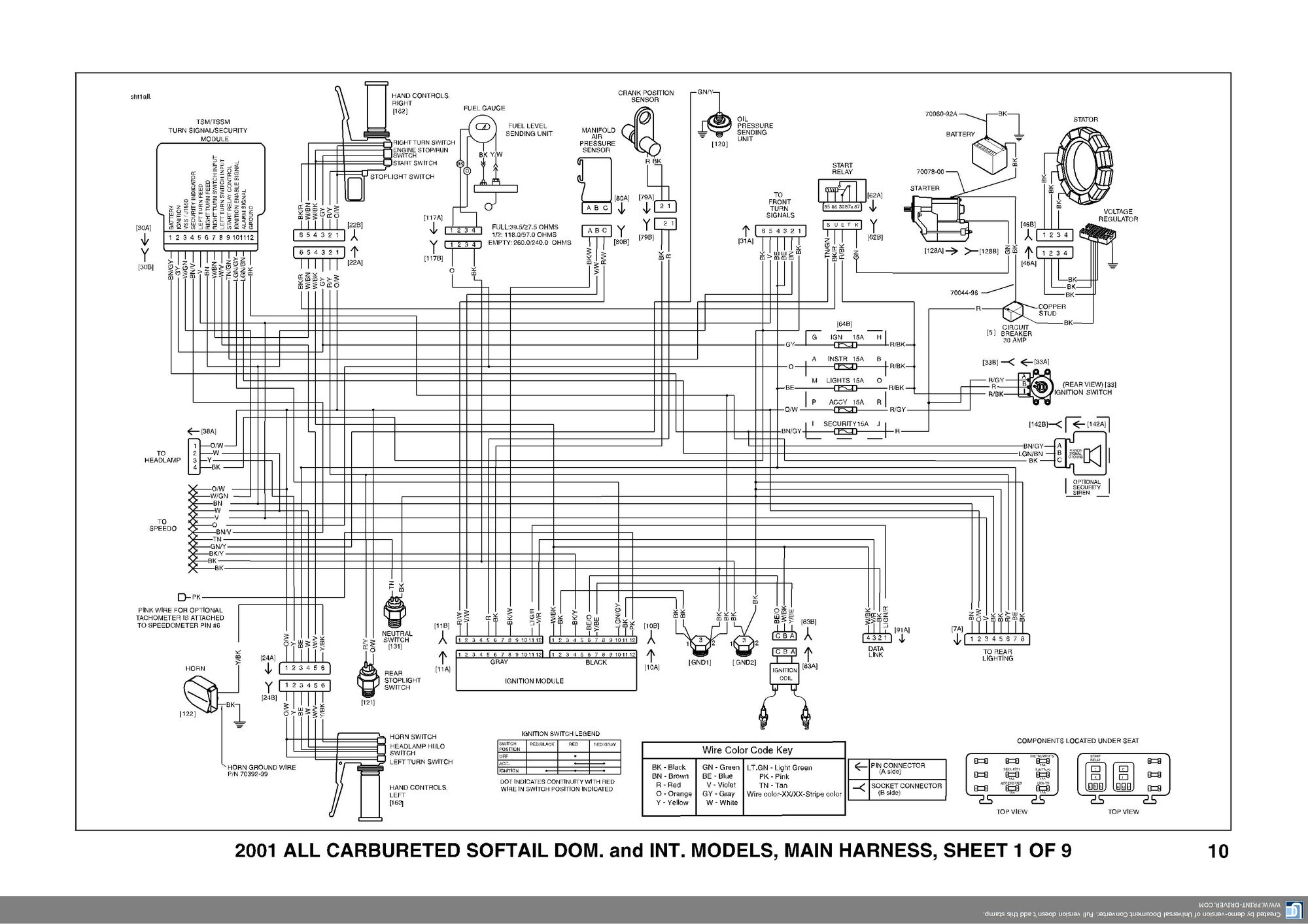 Diagram Harley Sportster Wiring Diagram Full