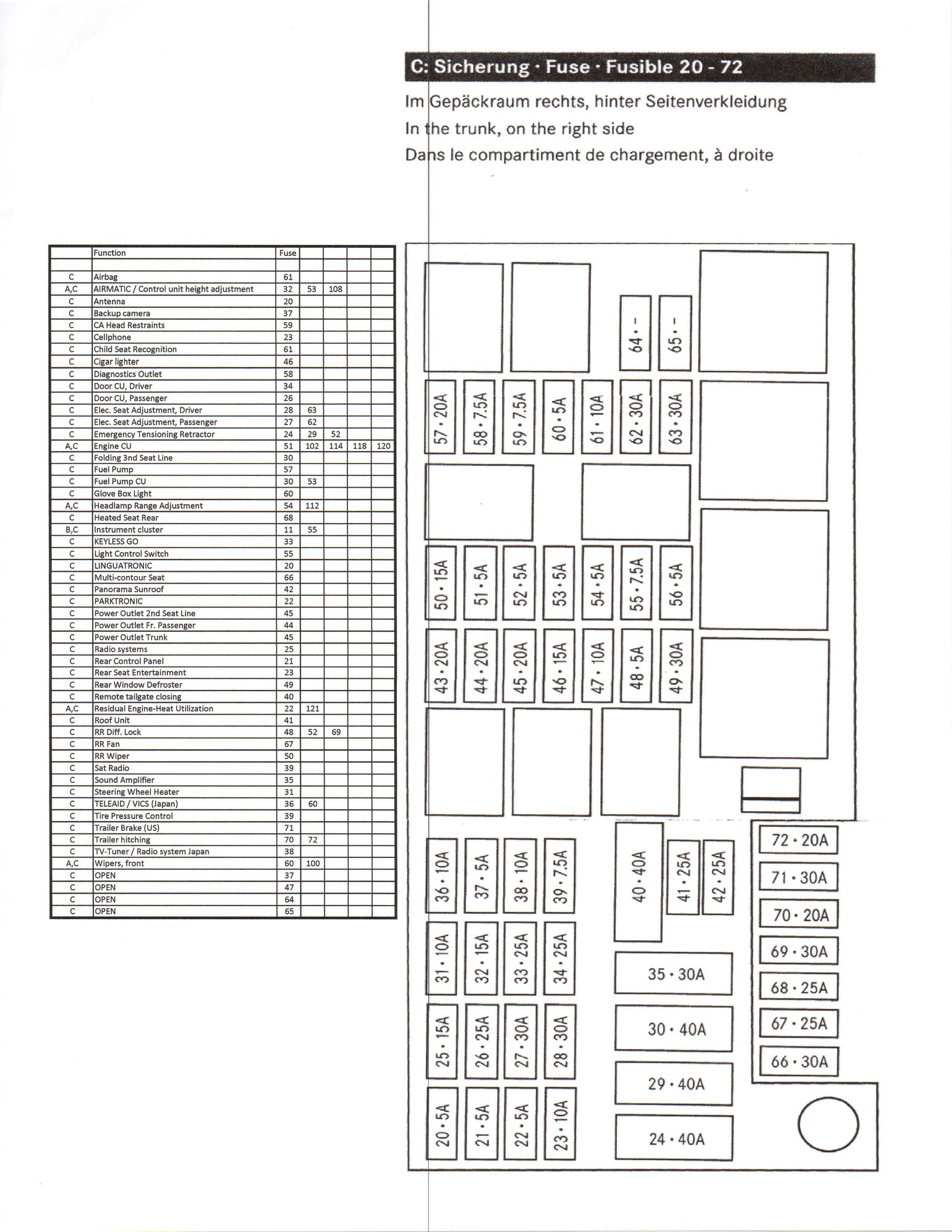 Mercede Ml350 Fuse Box Diagram