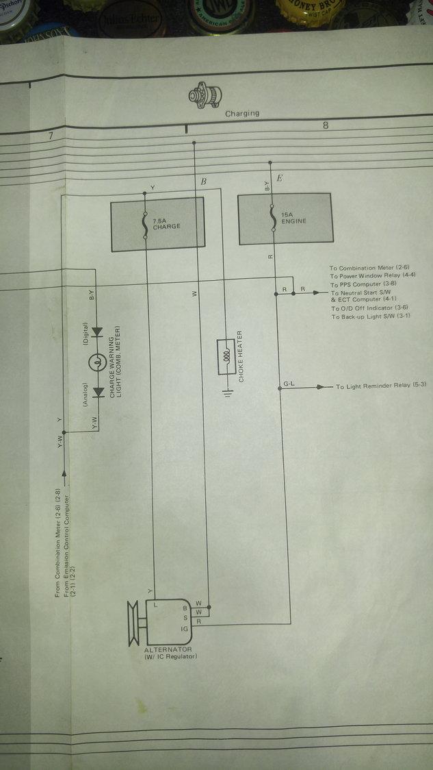 1987 toyota pick up wiring diagram  yotatech forums