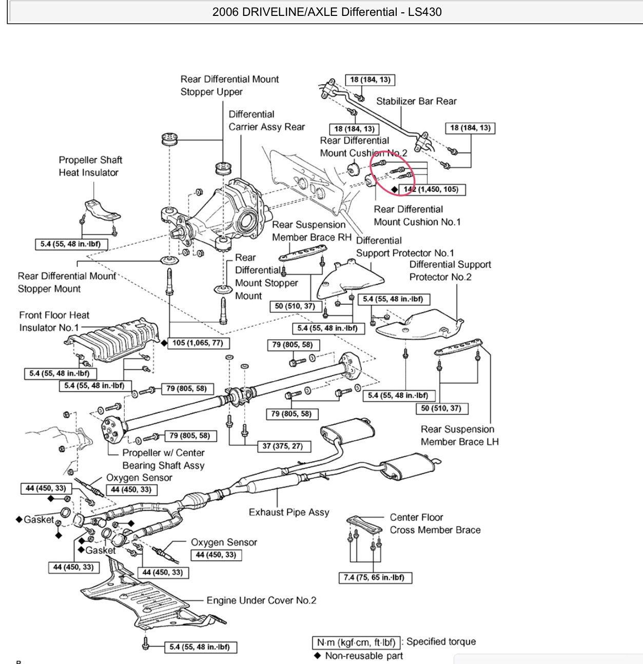 Ls430 Non Air Suspension Overhaul Rear Subframe R