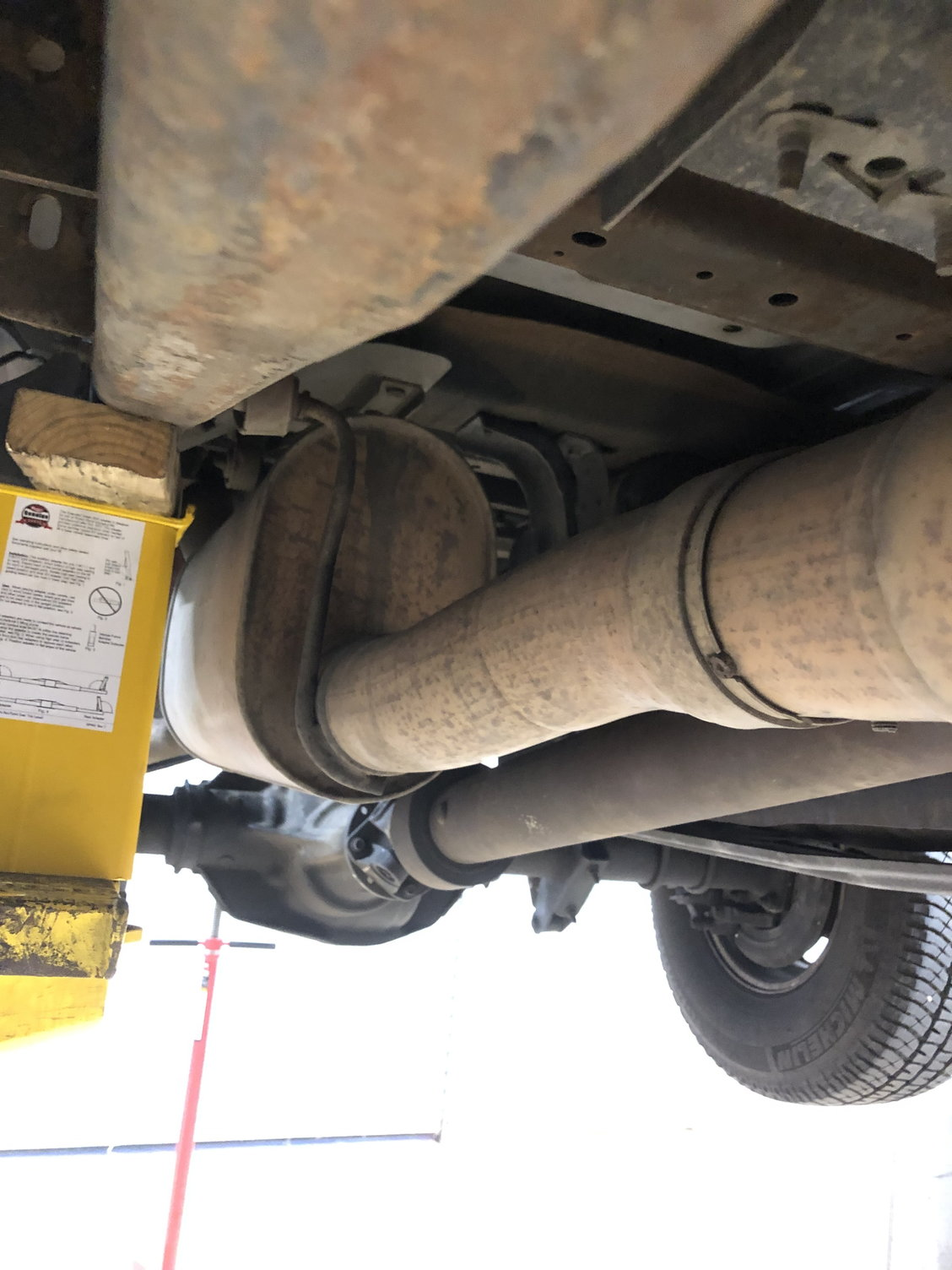 stock exhaust system straight pipe