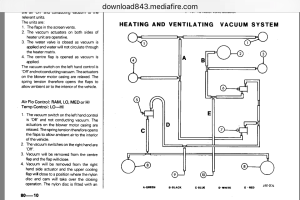 XJ6 Series 2 Heater vent vacuum line diagram  Jaguar