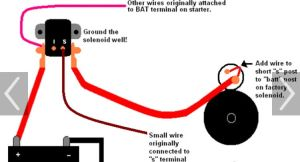 How to wire remote solenoid on gear reduction starter