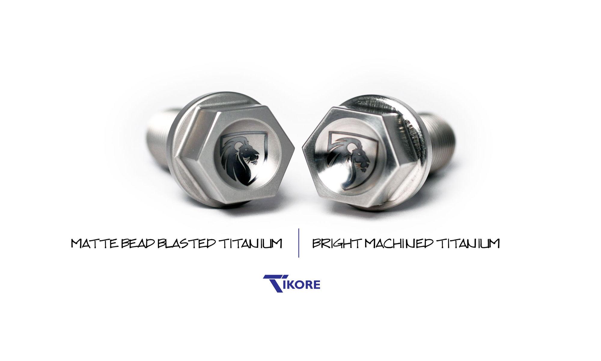 Tikore Titanium Wheel Lugs Custom Laser Etching