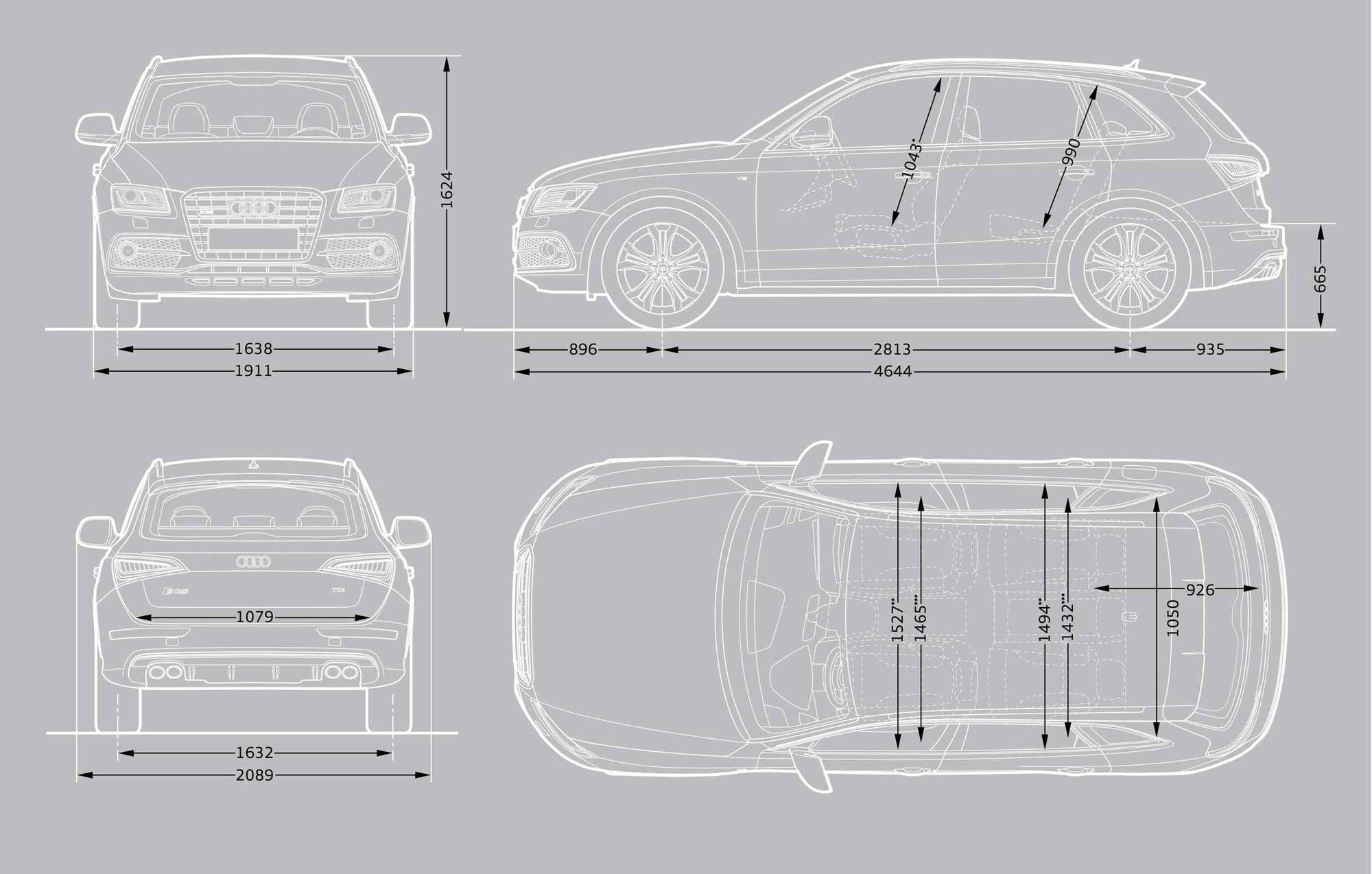 What Are The Interior Trunks Dimensions Sq5