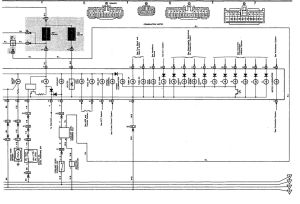 Wiring diagram for instrument cluster for 91 LS400