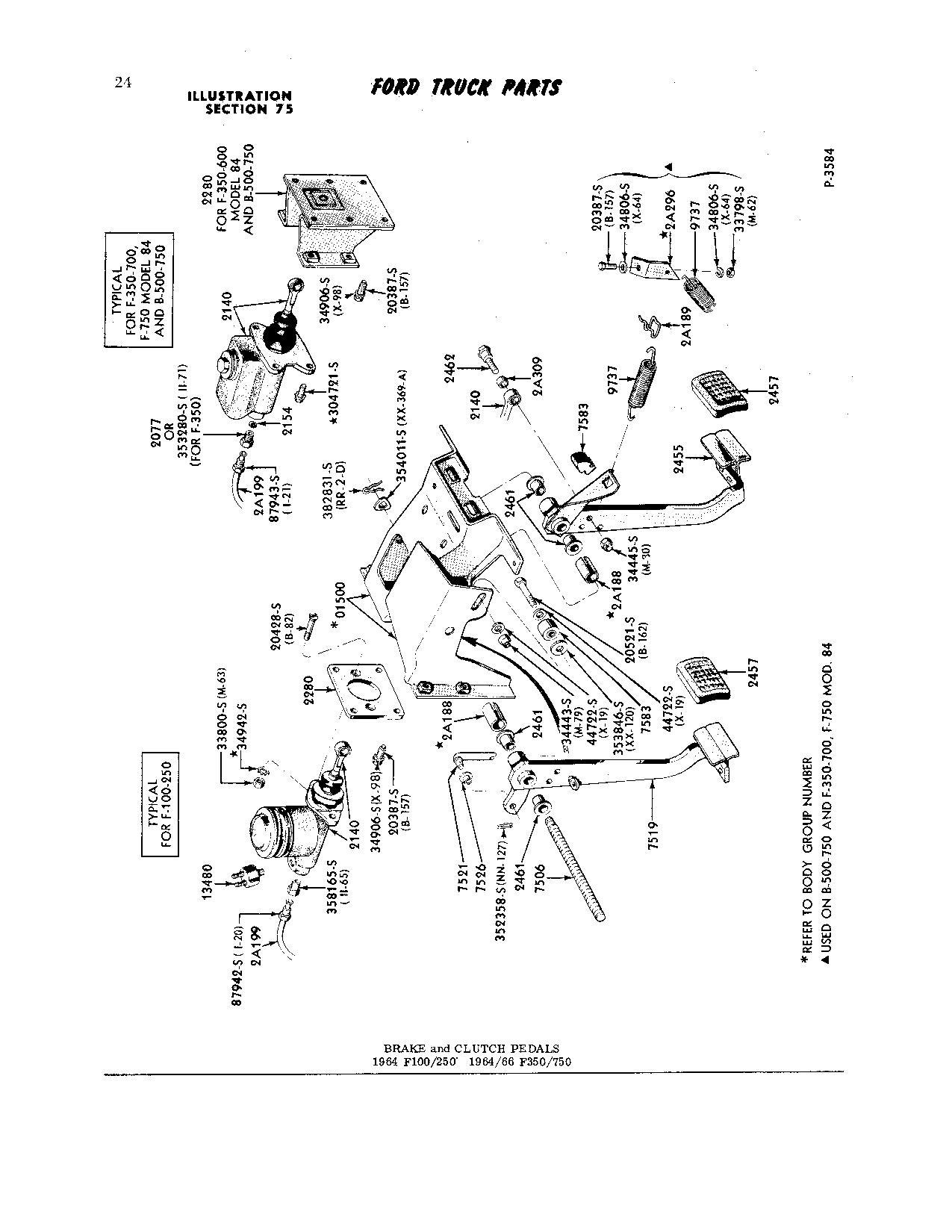 F100 Clutch Pedal Assembly