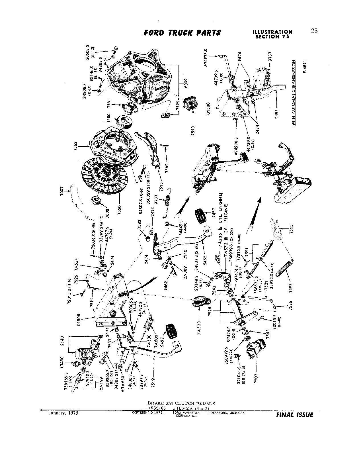 66 F100 Brake Pedal