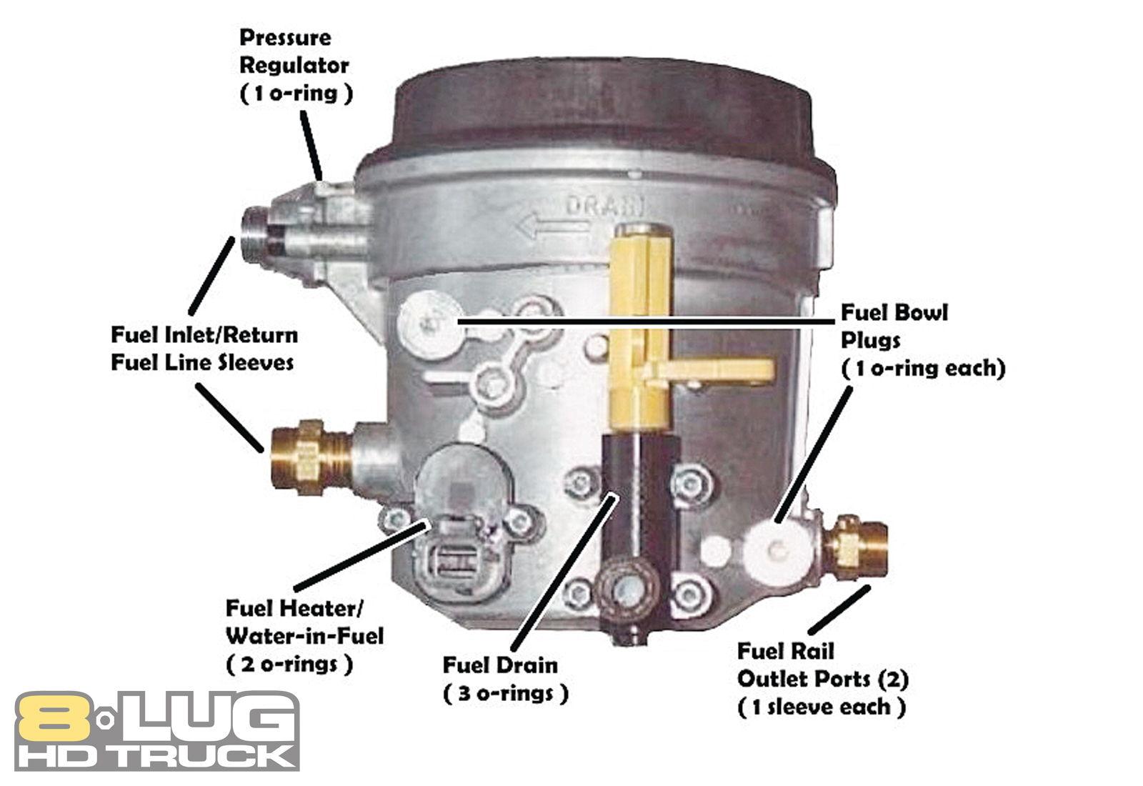 6 0 Billet Fuel Filter Cap Ford Updated