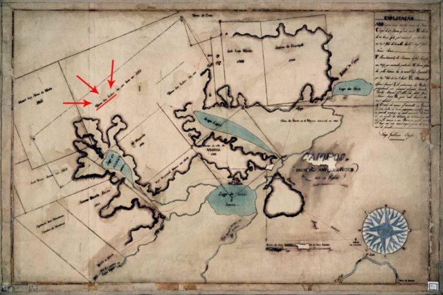 """Mapa do século 18 identifica """"Terra dos Índios"""" ainda em 1765 na região de Viana, Maranhão (no alto, à esquerda). Mapa: Domínio Público"""