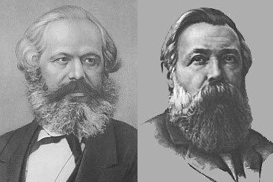 Resultado de imagen de Marx y Engels