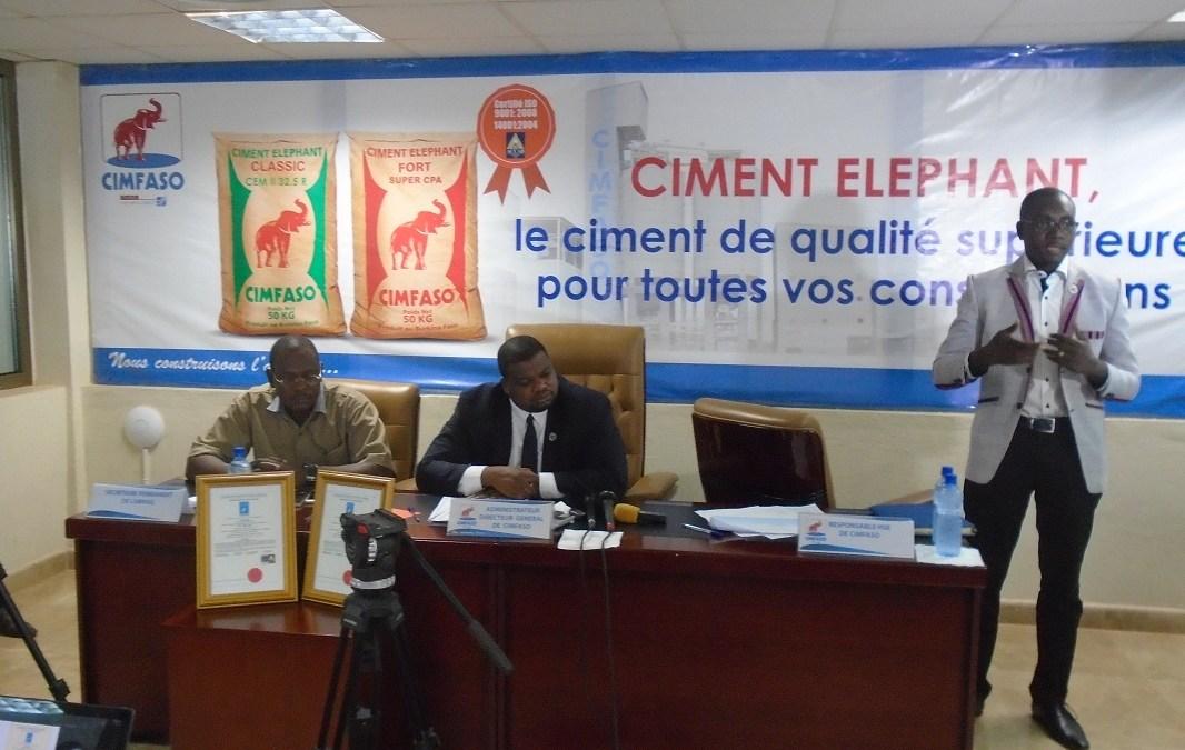 CIMFASO désormais certifié ISO