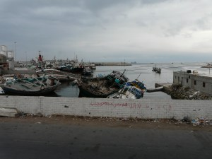 Mukalla port in Yemen