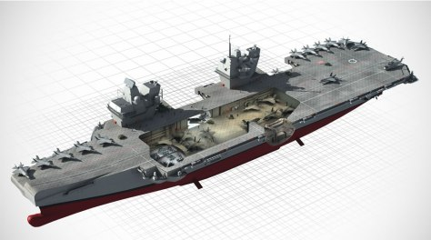 British sea power on the drawing board.