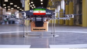 A still from Iranian state television of a purportedly reverse-engineered Amazon drone