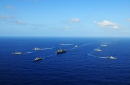 A U.S. Navy carrier strike group deploys off the coast off Benin. Just in case.