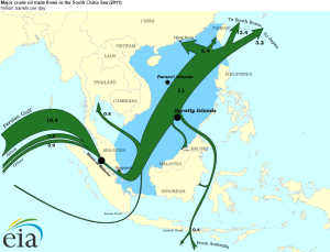2011 Crude Oil Flows through Southeast Asia. Source: U.S. Energy Information Administration.