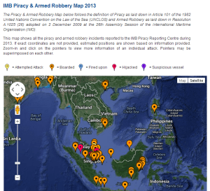 Attacks and attempts in 2013: South Asia and Southeast Asia. Source: IMB.