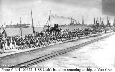 Sailors Returning to their Ships After Combat Ashore in Veracruz (Naval Historical and Heritage Command)