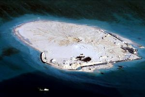 China continues land reclamation in Johnson South Reef in the South China Sea, otherwise known as the Mabini Reef by the Philippines and Chigua Reef by China.