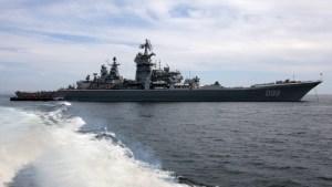 Pacific fleet vessels' sortie for combat training