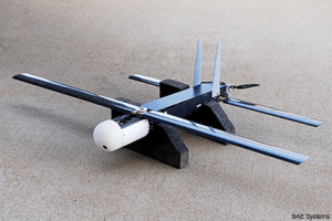 The Coyote UAV, developed by BAE, used by the LOCUST program