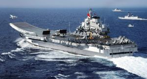 Chinese Carrier Liaoning, PLAN Photo.