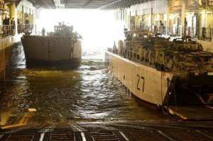 Amphibious Operations aboard a Mistral during Exercise LION MISTRAL in 2014.