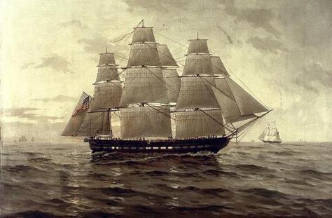 The U.S.S. Chesapeake, one of the U.S. Navy's original six frigates.