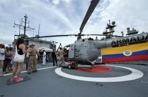 The Colombian Navy offered tours during RIMPAC 2014.