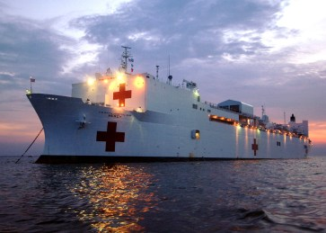 Airmen set sail aboard USNS Mercy for humanitarian mission